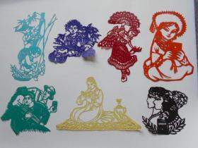 70年代剪纸【人物】剪纸7张
