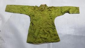 60年代梨园戏服酸菜绿绸缎面斜襟小衫一件20051838