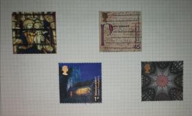 英国2000邮票一套4枚新背贴