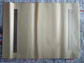旧纸老纸土纸竹纸连四纸连史纸毛边纸一刀100张,尺寸59x42㎝。重350克,不到一斤。非常薄。古籍修复用纸。平均每张纸重3.5克。品佳。