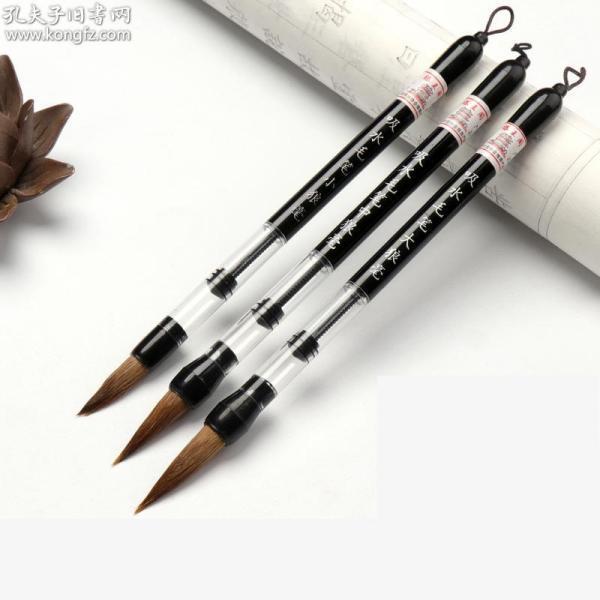 低價處理 3支狼毫筆 書法筆 毛筆 吸水毛筆大狼毫