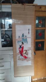 丝竹刺绣。鹿寿图130*40厘米。少见