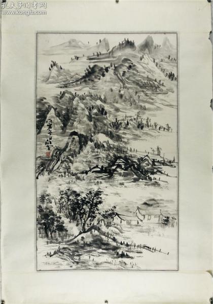 著名画家贾向戈画作,山水,山东省美术家协会会员,90*62