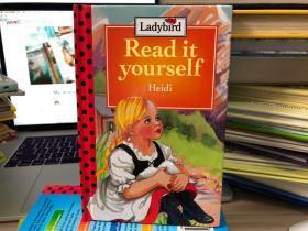 英文原版古董绘本童书 Heidi 英国印刷