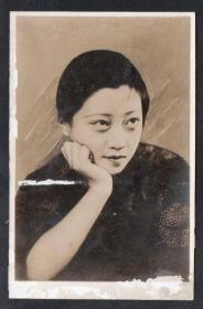 (m199a)民国超级女星王汉伦照相版明信片