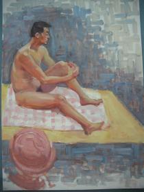 油画 《男体 》   尺寸:54X39厘米