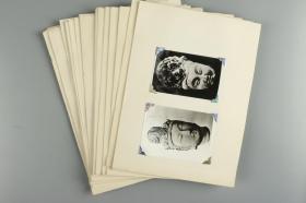 天空山石窟 佛像 菩萨 黑白老照片 一组约110幅 HXTX315187