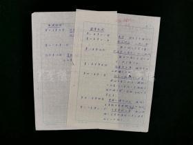 """同一来源:著名古文献学家、书画鉴赏家 罗继祖 1981年手稿两页(有关""""游宦纪闻""""点校意见)HXTX314392"""