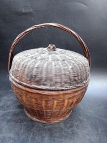 70年代手工竹编篮子一个20061828