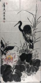 保真,北京著名画家周俊英,清香,100*50(15)