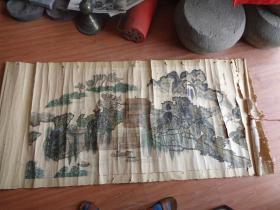 工艺品字画,老山水画佚名,品好如图。不保真。