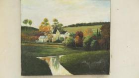 当代 无款油画风景   一幅 横幅  适合悬挂 尺寸76*60厘米