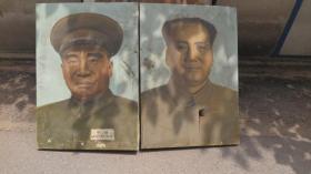 約5-60年代  毛主席畫像一幅 油畫包老真 帶有展覽編號 尺寸72*104厘米  畫面有破損