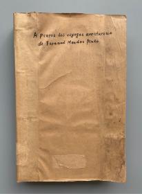 【汉学善本】1935年 北平北堂印书馆印行 汉学家沙海昂注释《平托中国游记》中法文版 重磅道林纸精印 16开 一厚册全(印制精良,附16幅照片插图及7幅折叠地图;是书前半部分由沙海昂注释,因其突然去世,后半部分注释工作由其妻姐Marie Médard代为完成;《平拖游记》原书当时极为罕见,没有英德文本,法文本亦很难找到,此书的注释出版对我国文化史地研究具有重要贡献!)