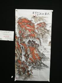 7-03-12画的非常不错,有气势,设色漂亮,山东青岛著名画家精品山水8平尺