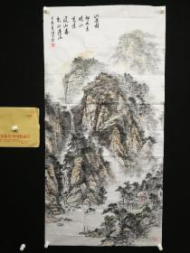 7-03-11画的非常不错,有气势,设色漂亮,山东青岛著名画家精品山水书法8平尺