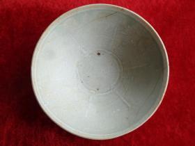 清朝瓷器《瓷碗》清,直径15cm,高5cm,品好如图。