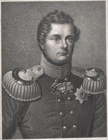 """""""西方历史上的君主""""1850年钢版画《腓特烈·威廉三世》 (德国荣誉的象征——铁十字勋章的创始人)"""