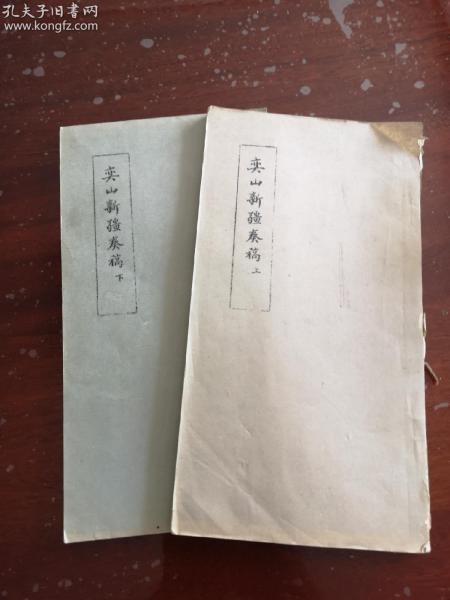 罕见新疆史料《奕山新疆奏稿》上,下卷两册