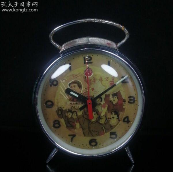 农村淘来的一个老钟表,正常使用文革表