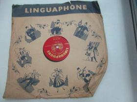 外文老唱片一张《LINGUAPHONE 13-14》 尺寸25/25厘米