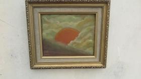 当代油画家 黄因聪  作油画一幅 画心尺寸24*19厘米