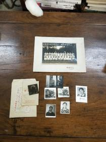 屠芳君旧藏  照片一组  ~  照片  ~   带一 同学 照片  ~  上海道中女子中学高中三毕业班摄影留念  ~ 1953年7月  ~  尺寸10————15厘米