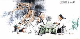 江苏省美协会员,傅抱石大师弟子,国家一级画师,丁惠兴先生,手绘大写意人物真迹                      尺寸,138*65厘米,画芯,新店开业,特价酬宾
