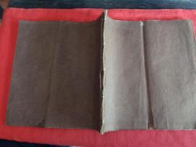 清朝空白本一册,筒子页38面,长24cm24cm,品好如图。
