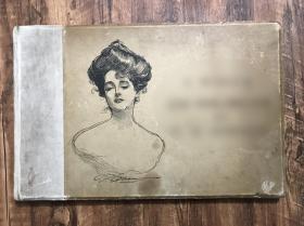 【1901年英文巨开古董画册44cmX29cm】80帧巨幅绝美插图,无文字,平均25元一张,巨划算