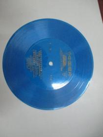 中国唱片社出版 薄膜老唱片一张 《毛主席号召咱农业学大寨、山庄巡逻队 等》尺寸17.5/17.5厘米
