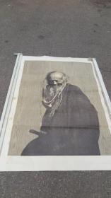 四川美術家協會常務理事  徐匡  老人 版畫作品一幅 正反面印制  150*108厘米 厚卡紙印制 沒帶水紋暗記