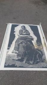 四川美术家协会常务理事  徐匡  版画作品一幅 正反面印制  150*108厘米 厚卡纸印制 没有带徐匡的水纹暗记纸