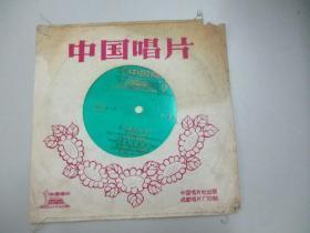中国唱片社出版 薄膜老唱片一张 《 我是公社小社员、小小镙丝帽 等》 尺寸17.5/17.5厘米