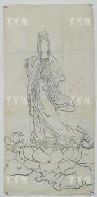 【谢-闲-鸥、谢-采-琴父女旧藏】画稿《慈航大士图》一幅(纸本软片,约3.7平尺)HXTX316452
