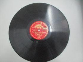 中国唱片社出版 老唱片一张 文献片 汉语拼音字母教学留声片《声母 上、鼻韵母 中》 尺寸25/25厘米