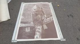 四川美术家协会常务理事  徐匡  版画作品一幅 正反面印制  150*108厘米  厚卡纸印制  带徐匡的水纹暗记纸3
