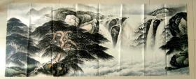 2.4米巨幅山水,江苏省美协会员,傅抱石大师弟子,国家一级画师,丁惠兴先生,8尺手绘大写意山水真迹                      尺寸,240*90厘米,画芯,新店开业,特价酬宾