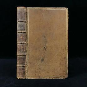 1735年 诙谐短诗选集 内页配版画装饰 原始小牛皮精装36开
