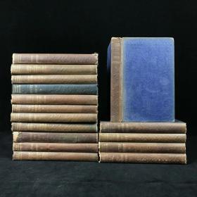 约1900年 狄更斯作品集(存16卷) Phiz/克鲁克香克等名家经典插图 漆布精装36开