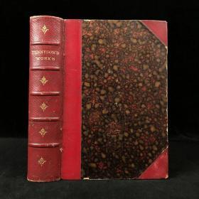 1887年 丁尼生诗集 真皮精装32开