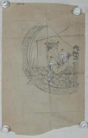 【谢-闲-鸥、谢-采-琴父女旧藏】画稿一幅(纸本软片,约2.2平尺)HXTX317013