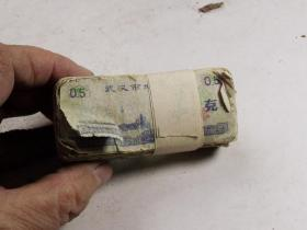 文革时期武汉500克的老粮票近100张
