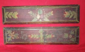 西藏文化木板两个
