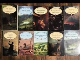 【老版企鹅经典】《呼啸山庄、华兹华斯诗集、维多利亚诗歌、地心游记、黑暗之心、十七世纪诗歌、彭斯诗集》等10册合售