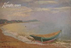 [藏品释放][油画版画专场]老油画,北戴河边