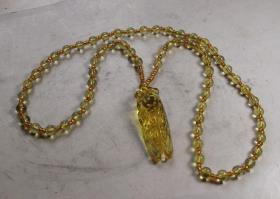 十分华美的金蝉项链