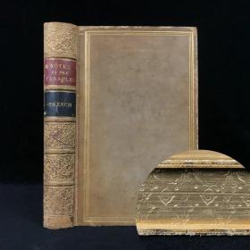 书口烫金雕刻纹饰 1855年 英国圣公会大主教特伦奇《详注版基督寓言》 全真皮精装大32开