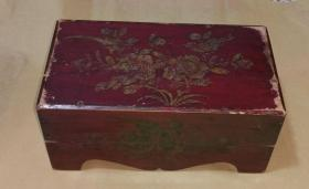 彩繪老木箱