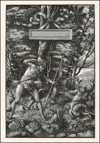 【版画史大珍·顶级高仿】1900年仿真复制:摇篮期半色调木刻版画《拉奥孔救下了被蛇缠绕的儿子》,52.5×38.8cm